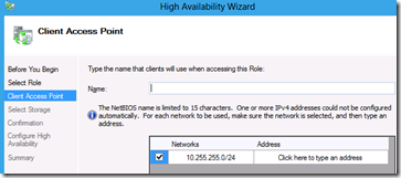 Clustering DHCP Windows Server 8
