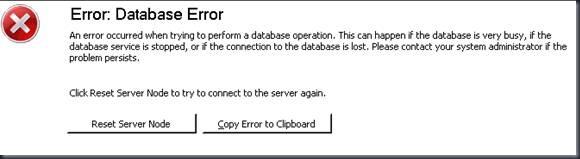 WSUS database Error