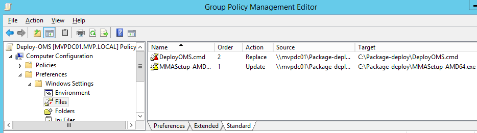 Install the OMS agent using GPO automation with Powershell