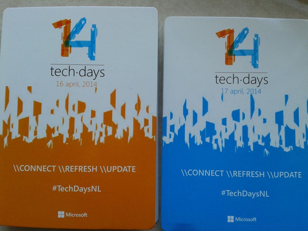 Microsoft Techdays 2014 #techdaysnl Session Download or