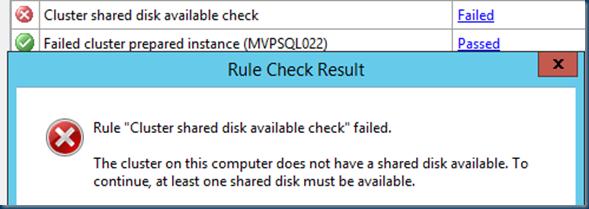 SQL Server 2014 Setup is failing using #CSV #SQL14 #WFC
