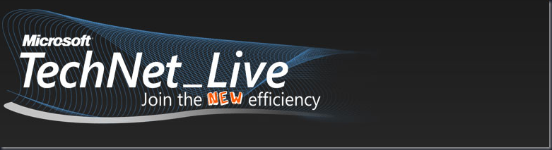 TechNet Live - Join the new efficiency