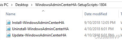 Make Windows Admin Center High available running on a