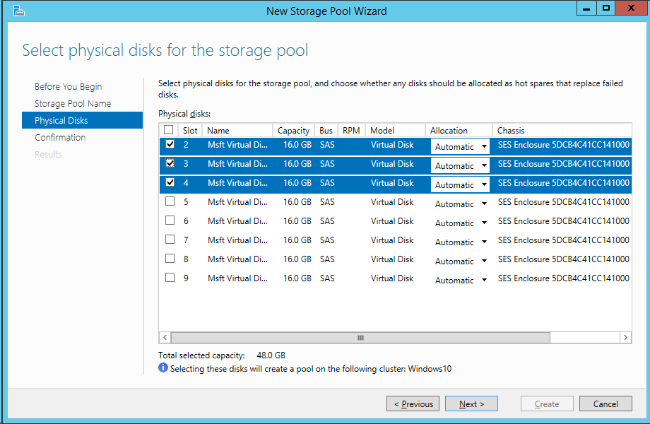Windows Server 2016 with Storage Spaces Direct. Building # ...