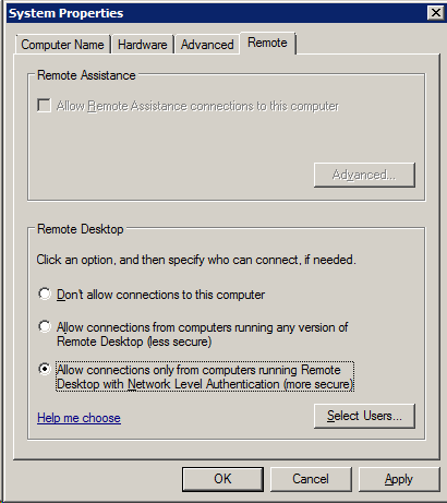 Network Level Authentication (NLA) is disabled | Robert Smit MVP Blog