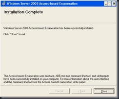 Access-based Enumeration (ABE)