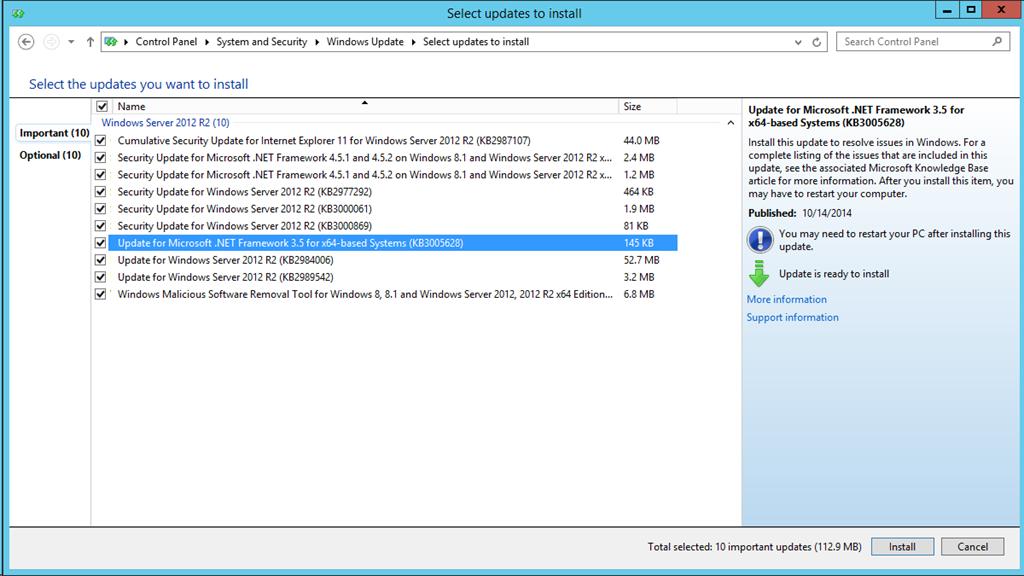 Failed to install .NET Framework 3.5 Feature Windows Server 2012R2 ...