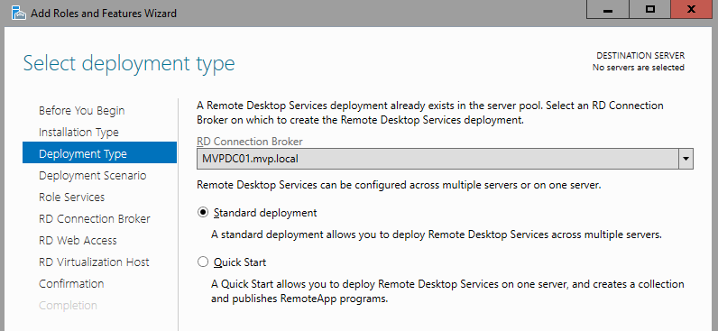 multipoint server 2016 configuration